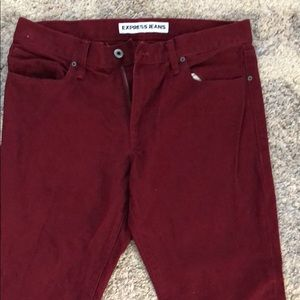 EXPRESS burgundy jeans